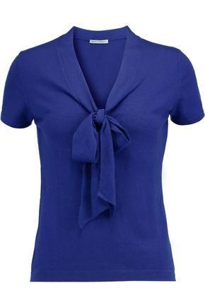 AUTUMN CASHMERE Pussy-bow cashmere top