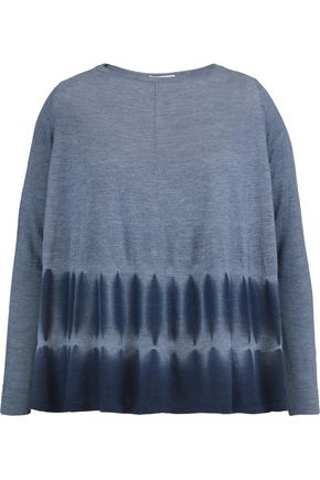AUTUMN CASHMERE Tie-dyed cashmere top