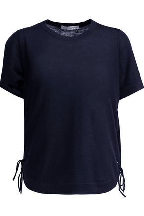 AUTUMN CASHMERE Lace-up melange cashmere T-shirt