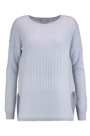 AUTUMN CASHMERE Ribbed paneled cashmere sweater