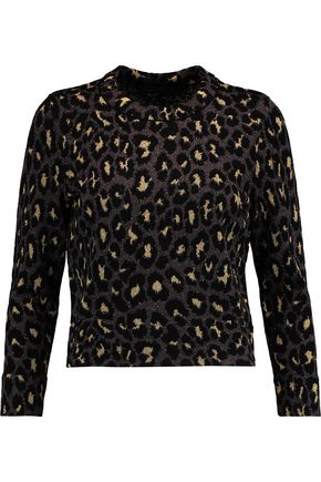 MARC BY MARC JACOBS Metallic leopard-print wool-blend top