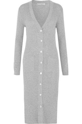 AUTUMN CASHMERE Ribbed cotton maxi cardigan