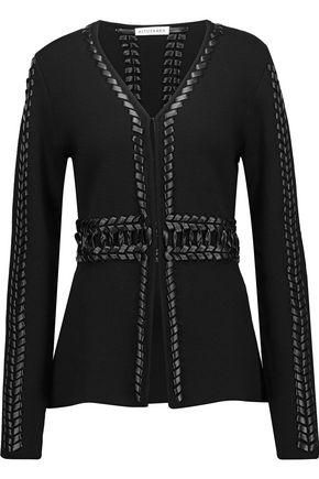 ALTUZARRA Copperhead braided leather-trimmed wool sweater