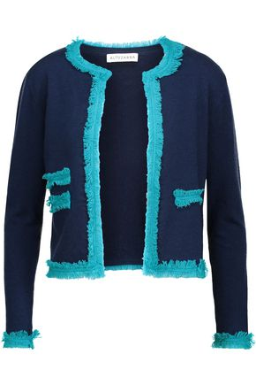 ALTUZARRA Kirtland fringed stretch-knit cardigan