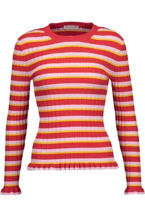 ALTUZARRA Chandler striped ribbed-knit sweater