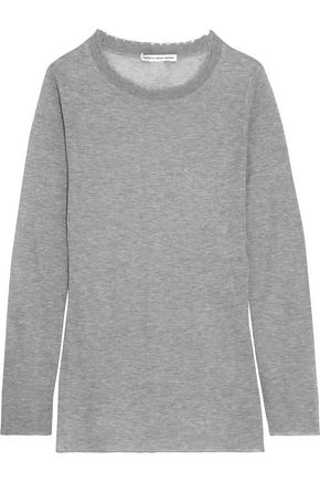 AUTUMN CASHMERE Distressed cotton top