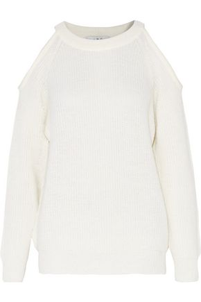 IRO Lineisy cold-shoulder ribbed-knit sweater