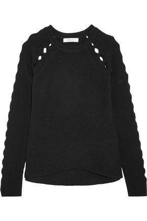 MILLY Cutout wool sweater