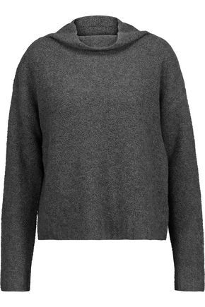 MILLY Marled bouclé-knit cashmere-blend sweater