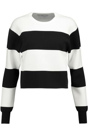 TIBI Après Ski striped stretch-knit sweater