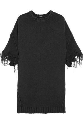 R13 Frayed stretch-knit sweater