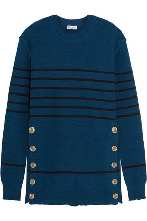 SONIA RYKIEL Embellished striped knitted sweater