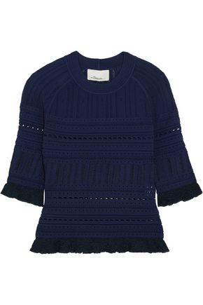 3.1 PHILLIP LIM Ruffled pointelle-knit sweater