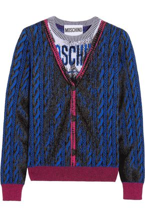 MOSCHINO Intarsia wool sweater
