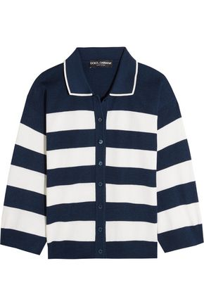 DOLCE & GABBANA Knitted striped silk cardigan