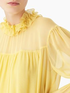 Frilly collar blouse