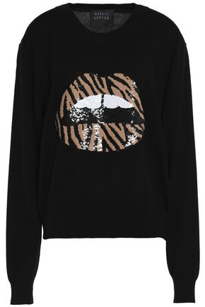 MARKUS LUPFER Lara sequin-embellished wool sweater