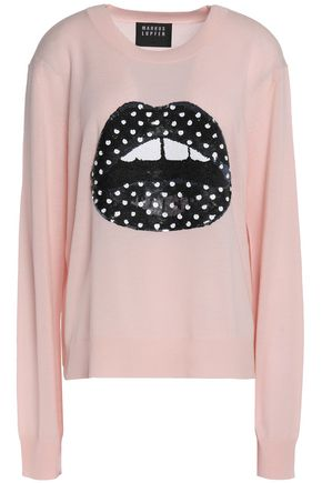 MARKUS LUPFER Sequin-embellished merino wool sweater