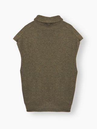 Draped-collar top