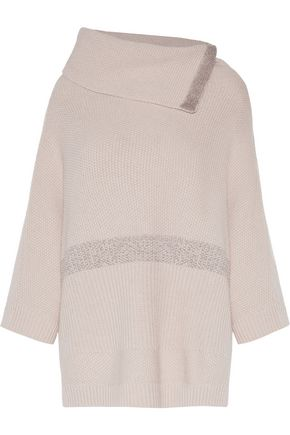 DUFFY Metallic striped wool-blend sweater