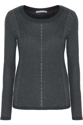 DUFFY Ribbed cashmere-blend sweater