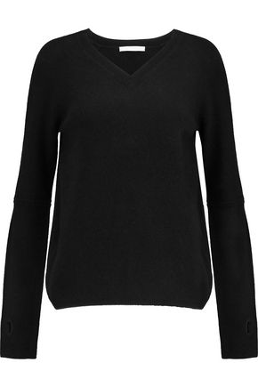 DUFFY Cutout wool and cashmere-blend sweater