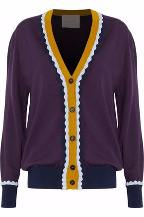 ROKSANDA Color-block wool cardigan