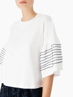 Stitched-sleeve T-shirt