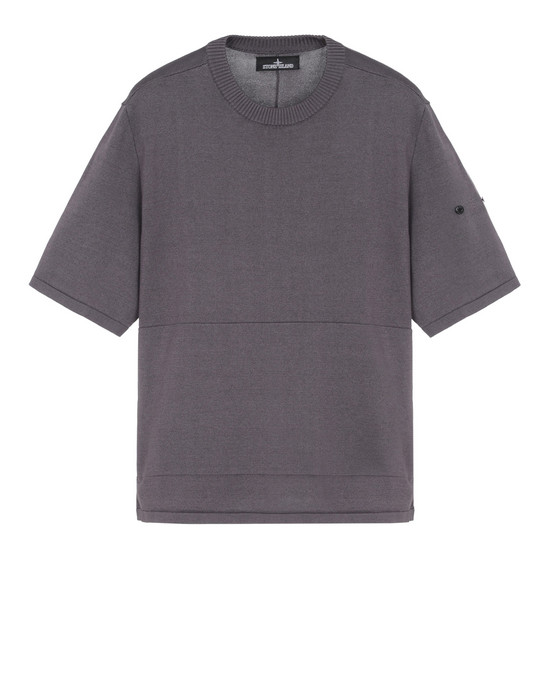 Sweater 505A3 VENTED SS CREWNECK WITH ADJUSTMENT ZIPPER (MERCERIZED 100% COTTON) STONE ISLAND SHADOW PROJECT - 0