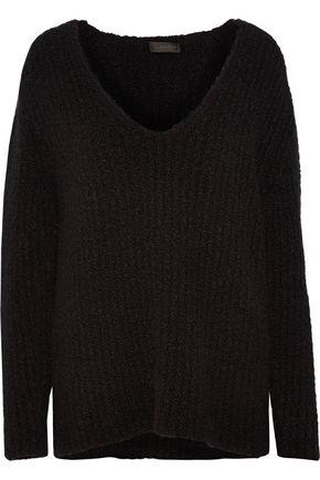 CALVIN KLEIN COLLECTION Corella bouclé-knit cashmere and silk-blend sweater