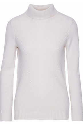 IRIS & INK Dolores ribbed cashmere turtleneck sweater