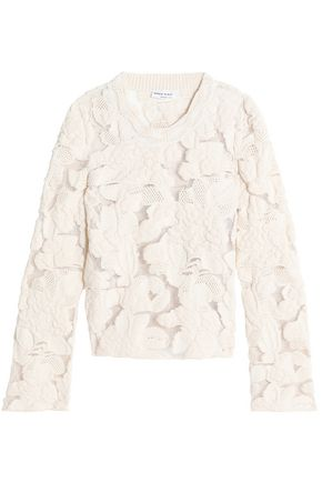 SONIA RYKIEL Cotton-blend guipure lace sweater