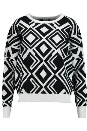 DKNY Geomertic cotton-blend sweater