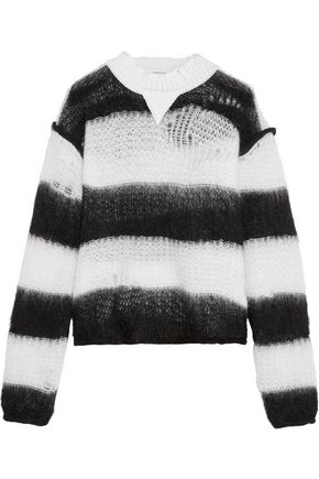 SONIA RYKIEL Striped mohair-blend sweater