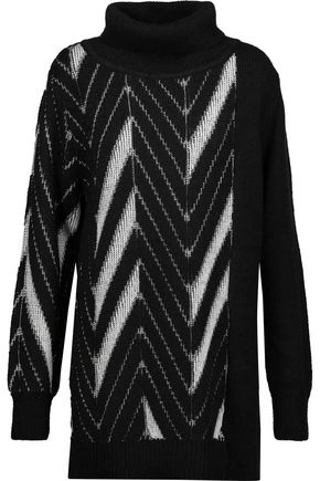 Y-3 + adidas Originals intarsia-knit turtleneck sweater