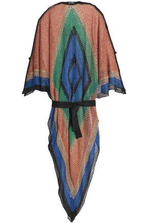 BALMAIN Color-block open-knit kaftan