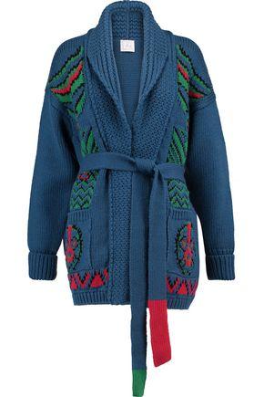 STELLA JEAN Intarsia-knit wool-blend cardigan