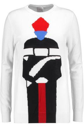STELLA JEAN Intarsia wool-blend sweater