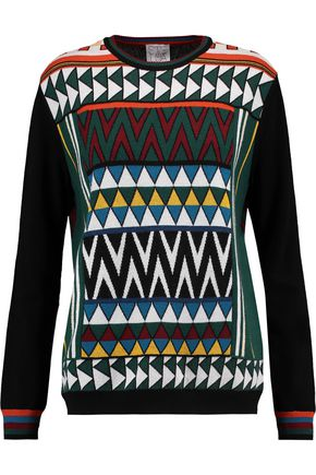 STELLA JEAN Intarsia-knit wool-blend sweater