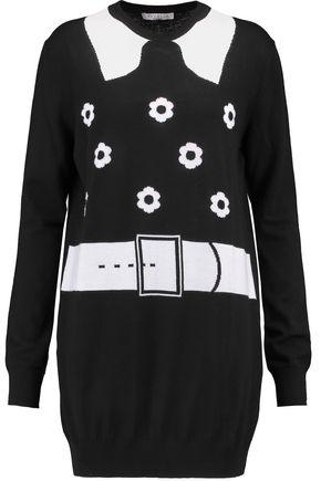 VIVETTA Two-tone intarsia wool sweater