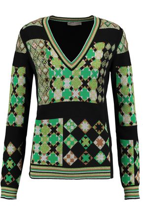 EMILIO PUCCI Metallic jacquard-knit sweater
