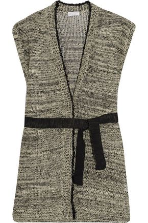 BRUNELLO CUCINELLI Sequinned hemp, linen and silk-blend cardigan
