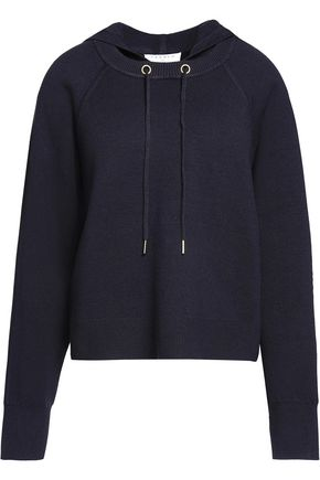 SANDRO Stretch-knit hooded sweater