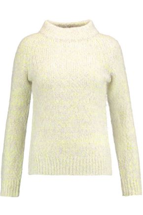 DUFFY Marled cable-knit turtleneck sweater