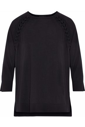 BELSTAFF Lattice-trimmed knitted top