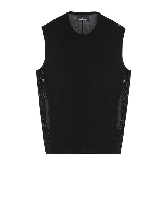 针织马甲 501A1 LACUNA TANK TOP WITH CHAMBER AND DROP POCKET (MERCERIZED 100% COTTON) STONE ISLAND SHADOW PROJECT - 0