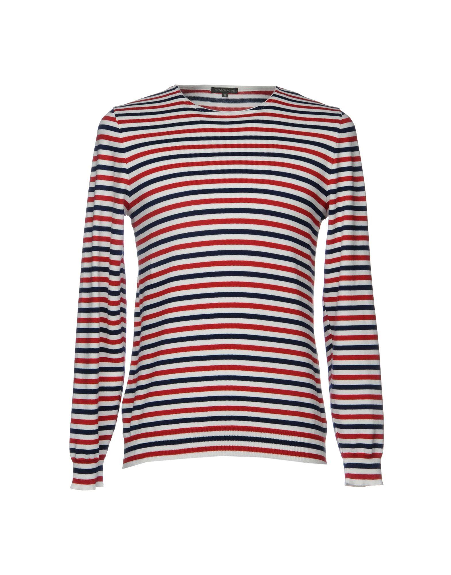 SCAGLIONE Свитер мужской свитер в полоску 52