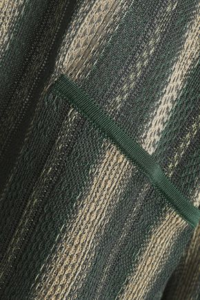 ACNE STUDIOS Metallic striped crochet-knit sweater