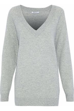 T by ALEXANDER WANG Mélange wool and cashmere-blend sweater