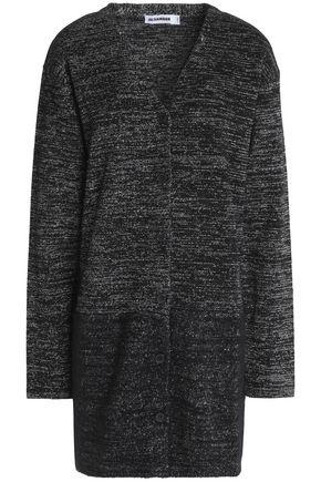 JIL SANDER Metallic wool-blend cardigan